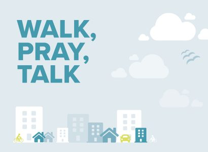 Walk pray talk card