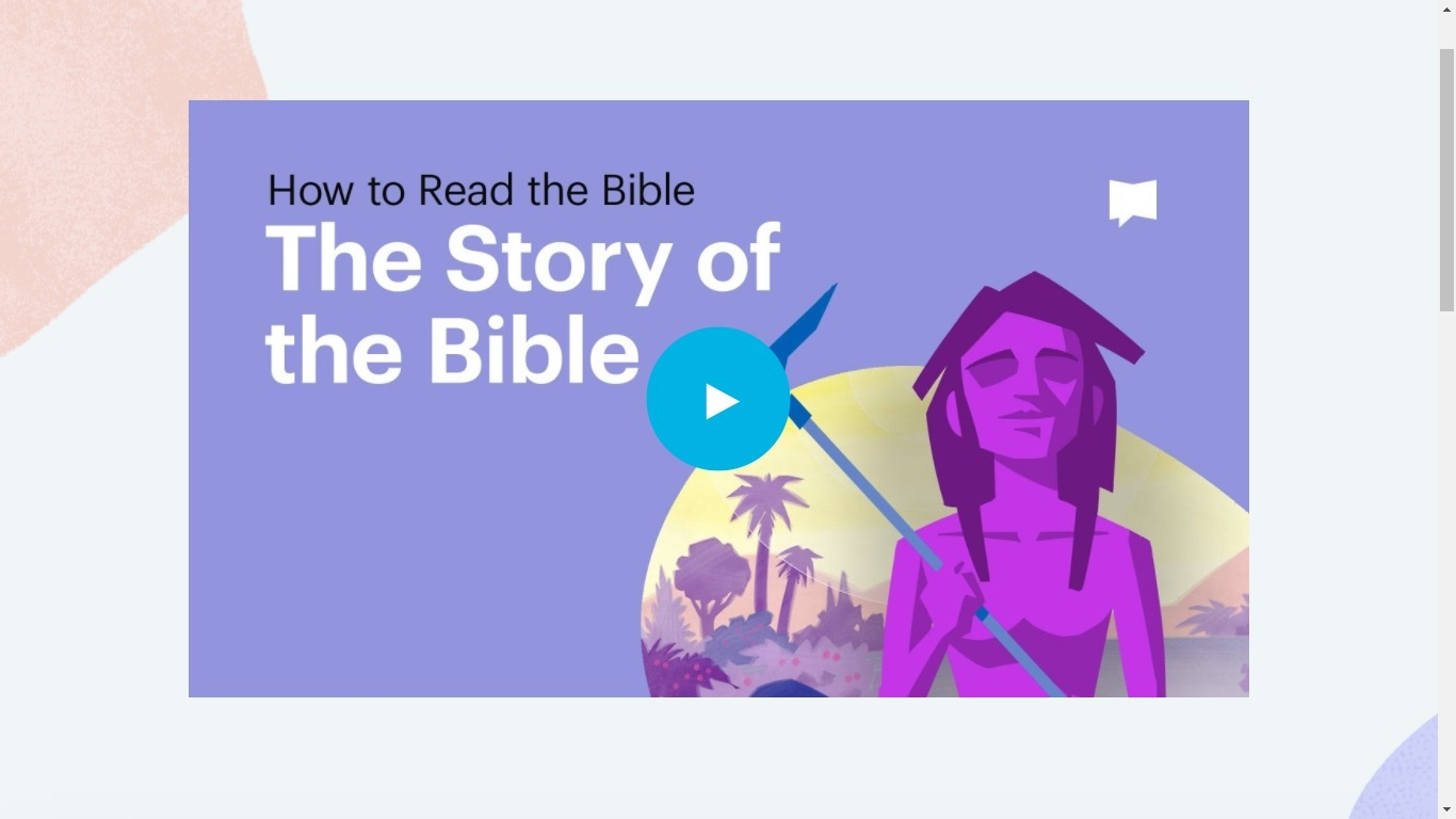 Bible project story of bible video