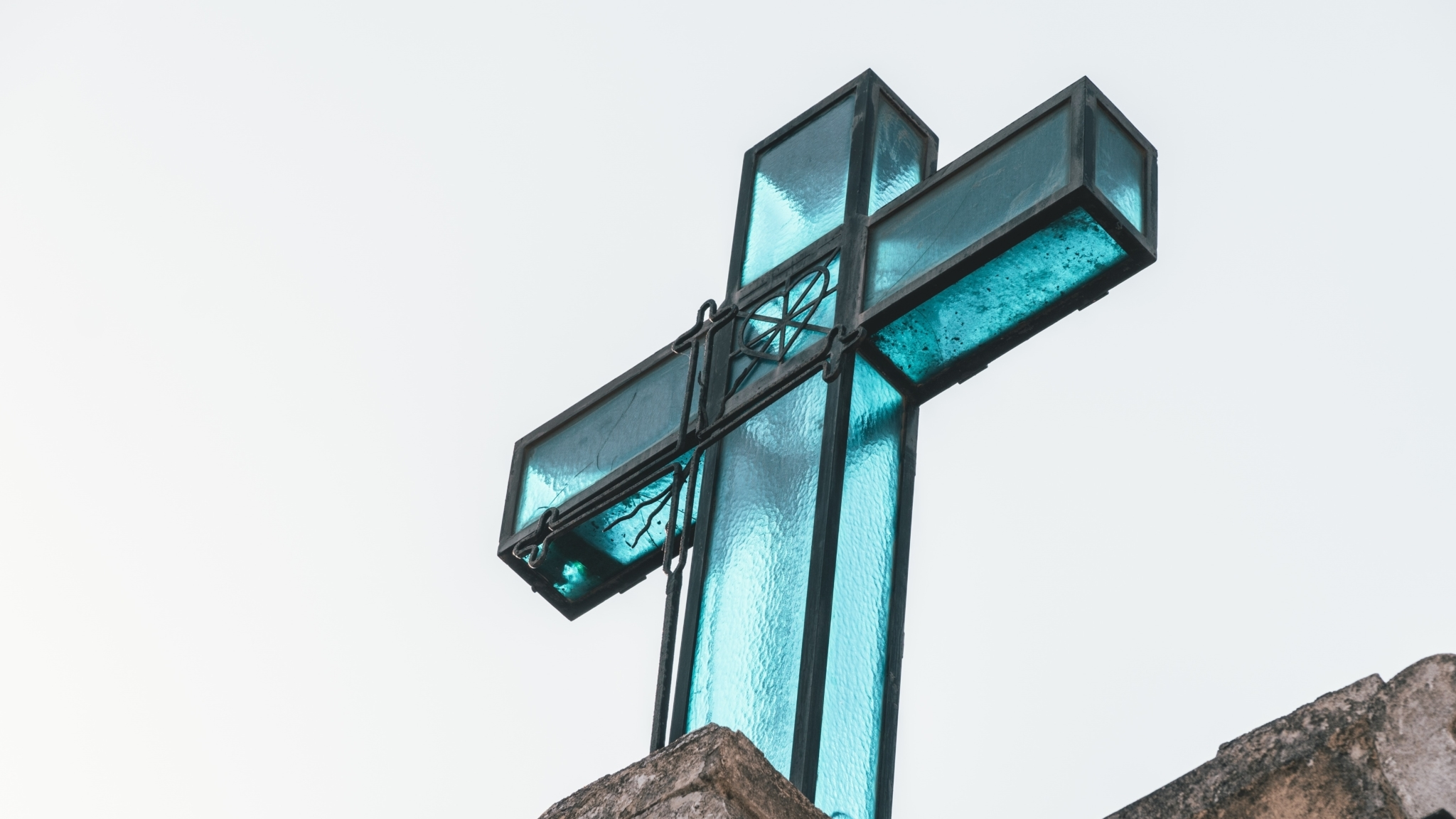 Blue Metal Cross
