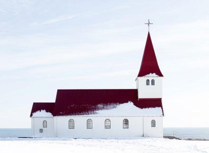 Church winter snow