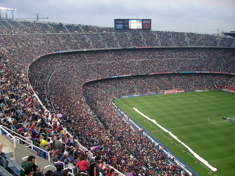 Fans at football stadium