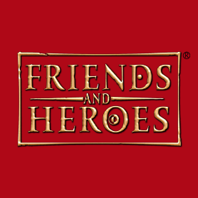 Friends and heroes logo