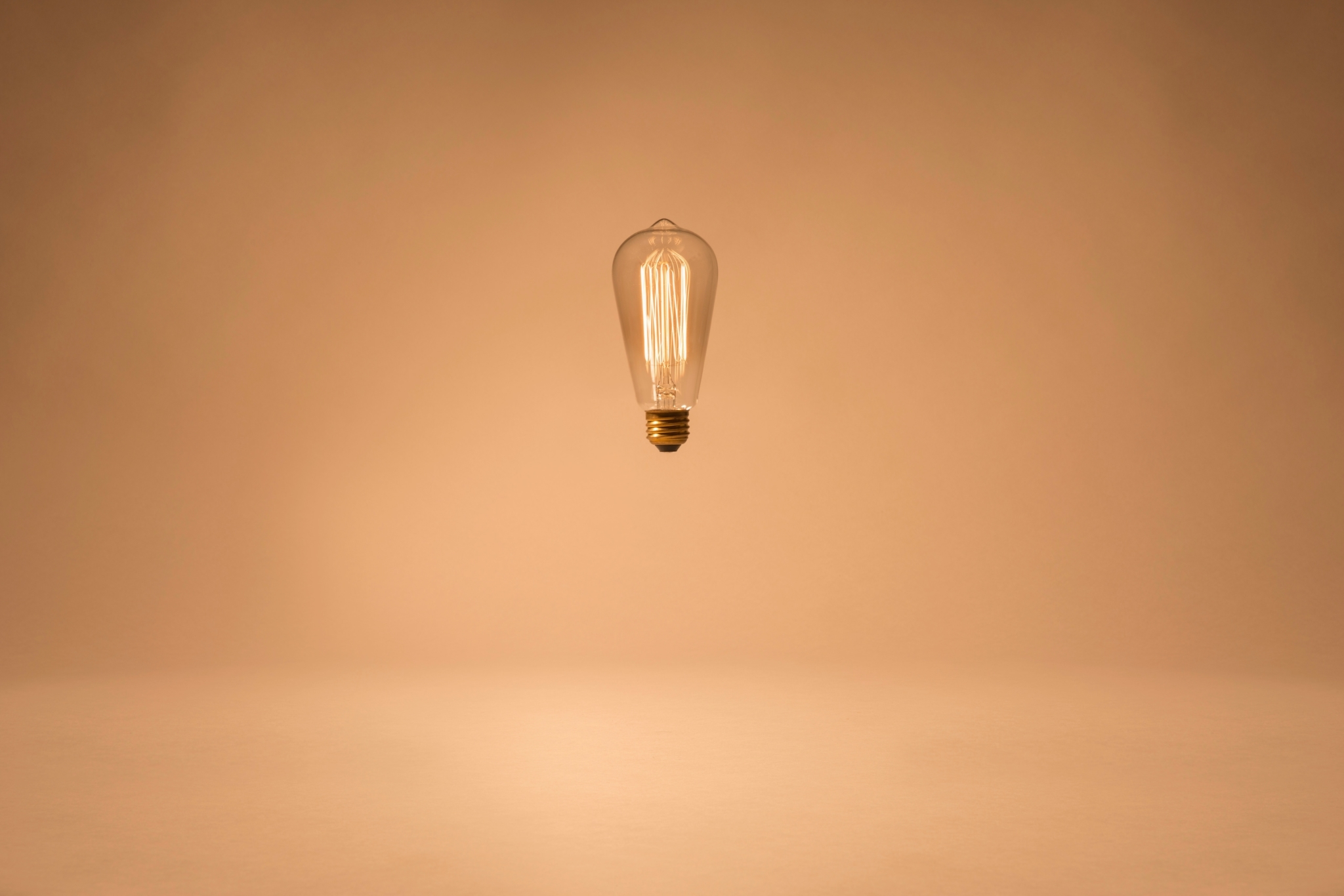 Lightbulb Suspended In The Air