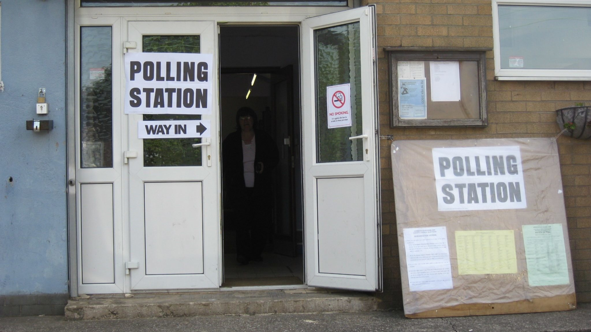 Polling station signs