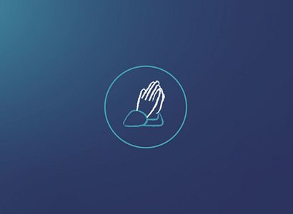 Prayer Icon For Website Blue Circle