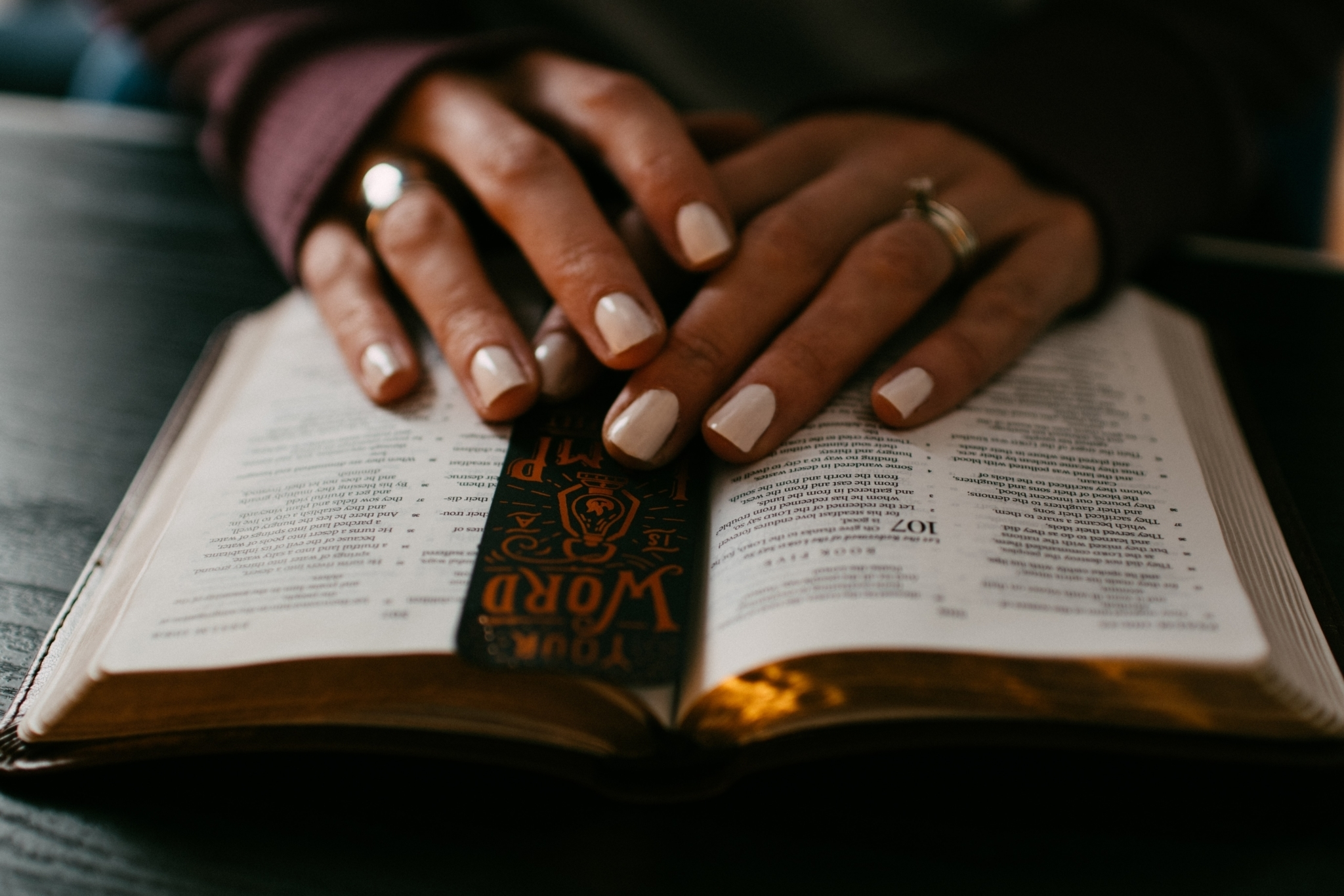 Prayer bible hands