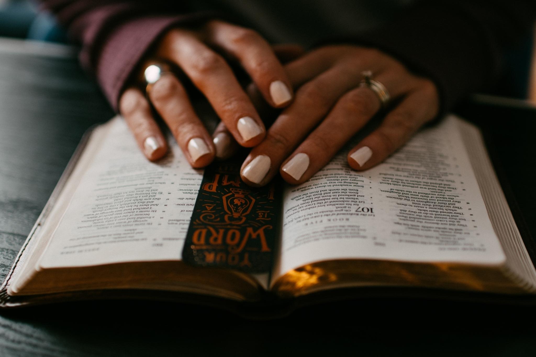 Prayer bible hands