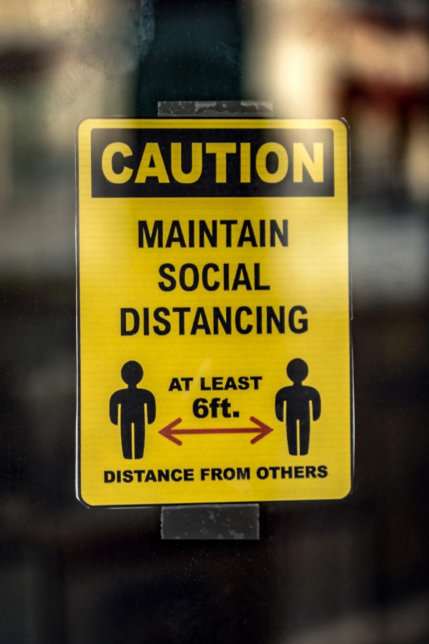 Social distancing 6ft apart
