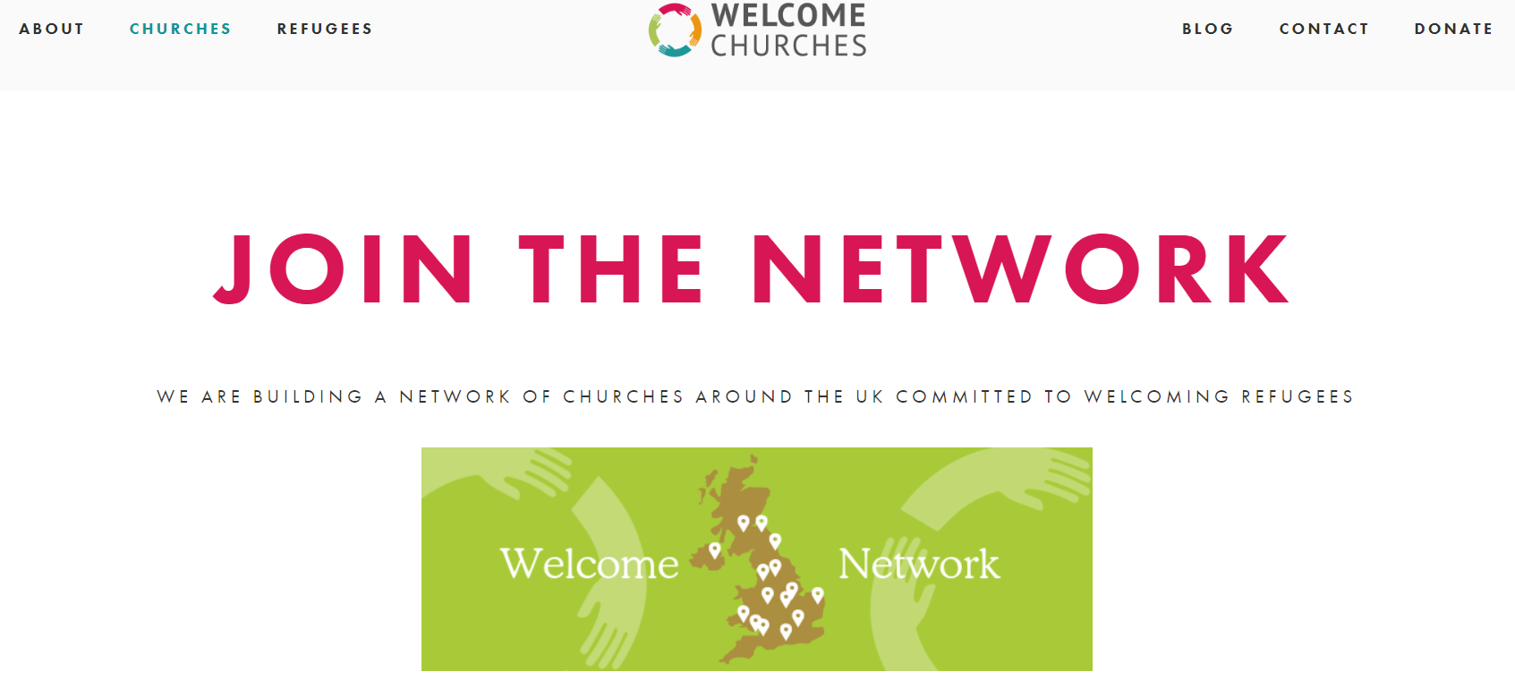 Welcome Churches website