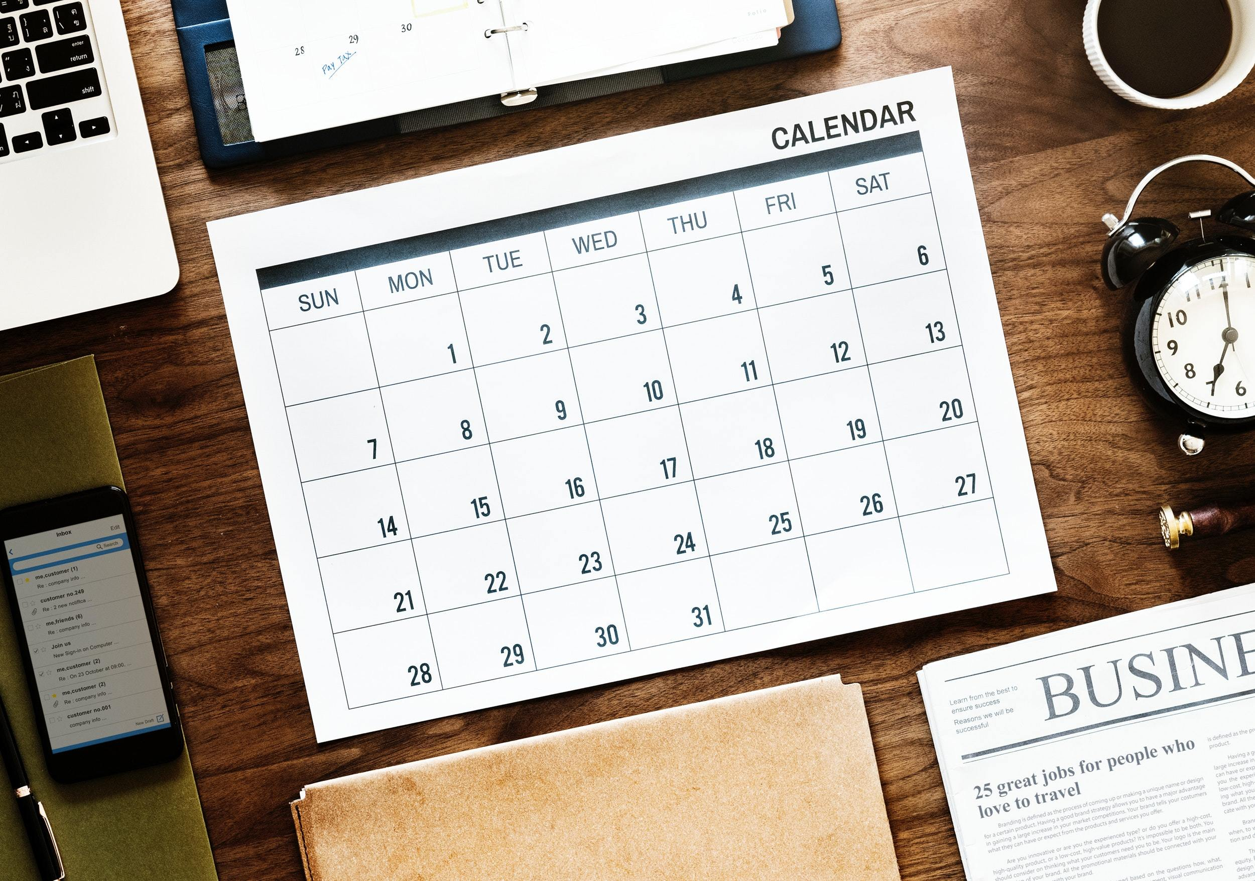 Agenda Appointment Business 1020323