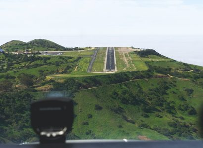Mountain airport runway