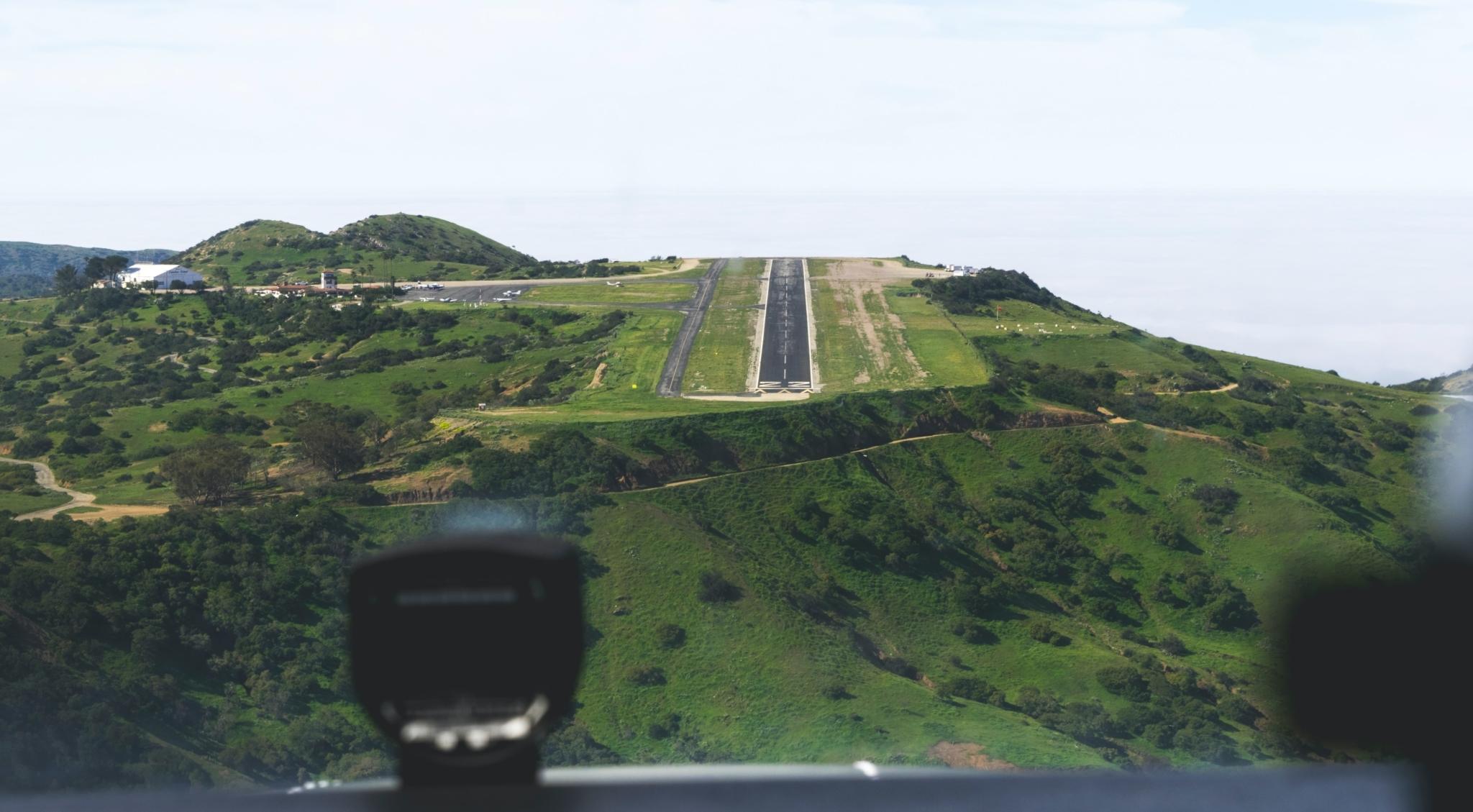 Mountain airport runway