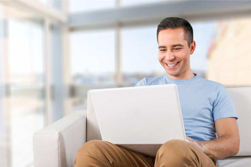 Person on computer